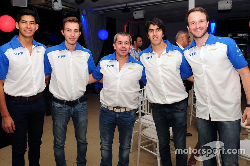 Los pilotos del equipo oficial Chevrolet: Facundo Conta, Manuel Mallo, Norberto Fontana, Matías Muñoz Marchesi y Agustín Canapino.