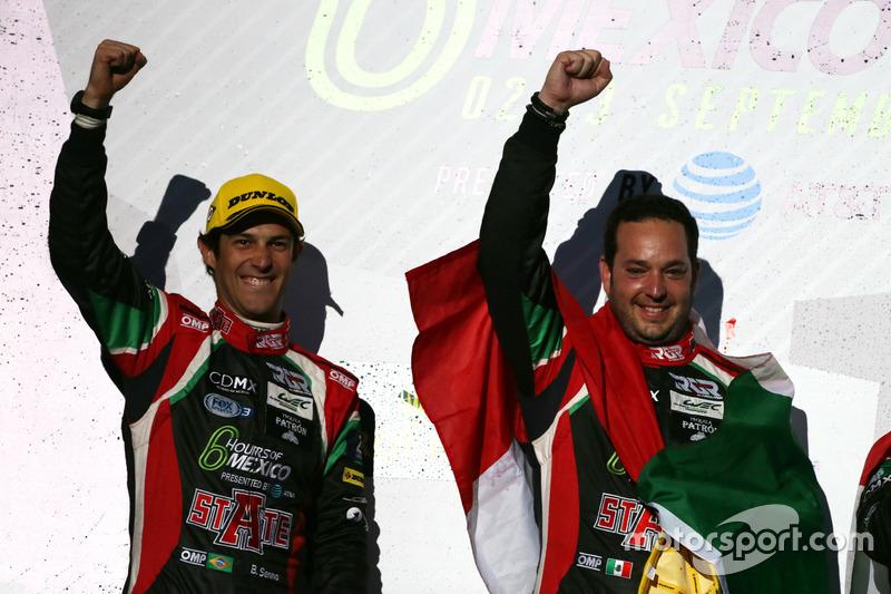 Podium LMP2: (L to R): Bruno Senna and Ricardo Gonzalez, #43 RGR Sport by Morand Oreca 05 - Nissan