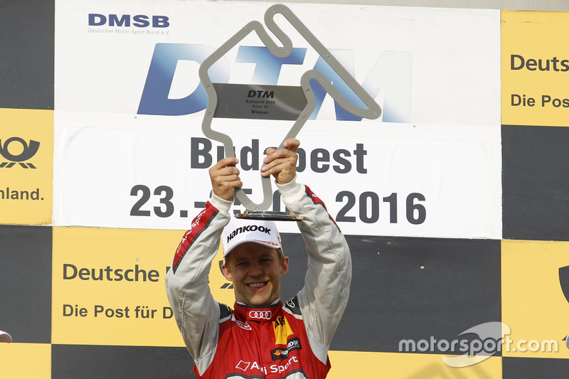 Podium: ganador, Mattias Ekström, Audi Sport Team Abt Sportsline, Audi A5 DTM