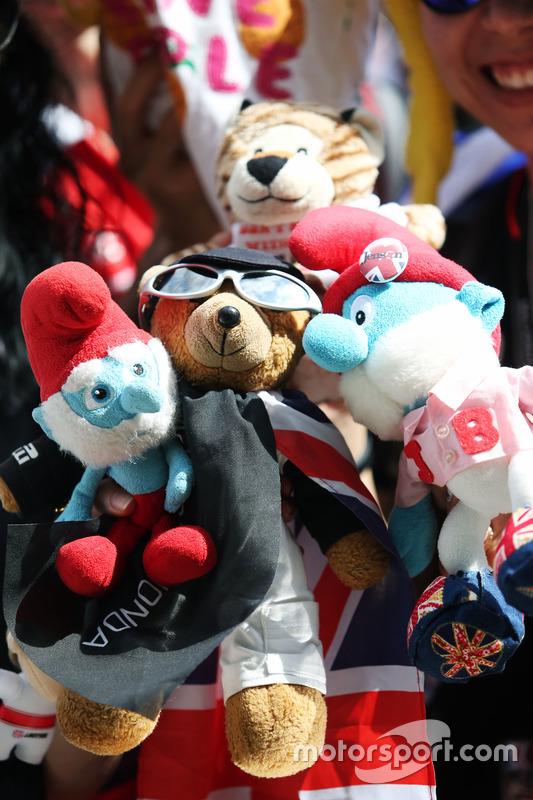 A fan's cuddly toys