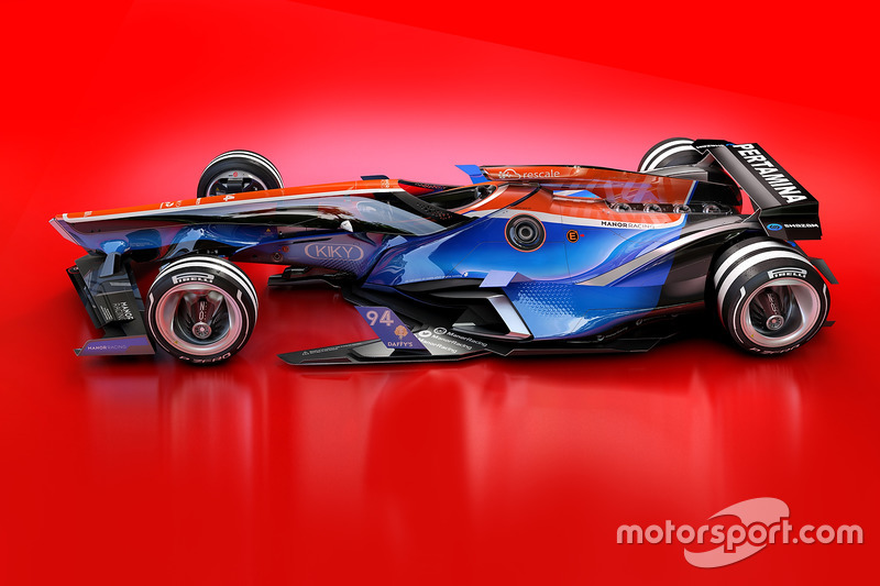 Manor Racing 2030 diseño fantasy