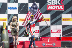 Podium: third place Nicky Hayden, Honda World Superbike Team