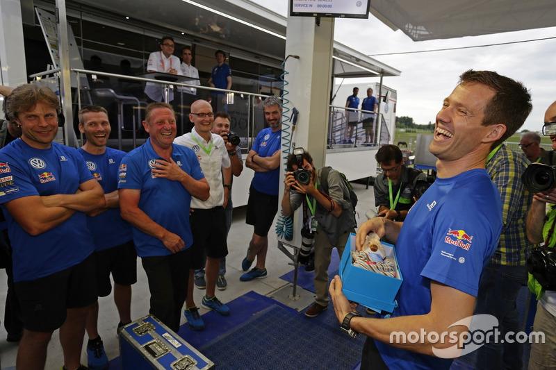 Team congratulates Sébastien Ogier, Volkswagen Motorsport to the birth of his son Tim