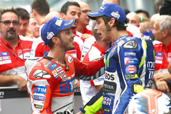 Race winner Andrea Dovizioso, Ducati Team, second place Valentino Rossi, Yamaha Factory Racing