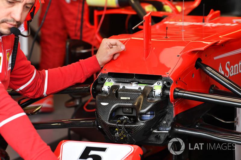 Ferrari SF70H: Dämpfer und Aufhängung