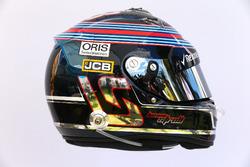 The helmet of Lance Stroll, Williams