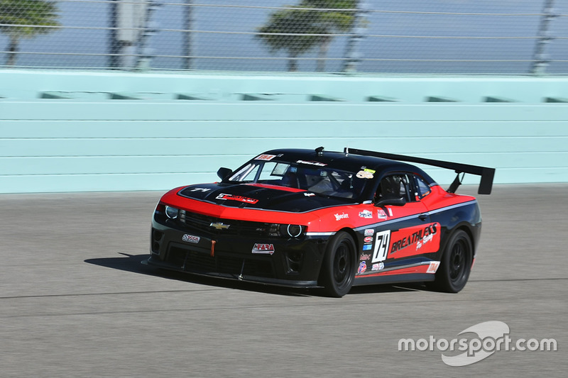 #74 MP1B Chevrolet Camaro driven by Dave Ricci & Ernie Francis of Breathless Performance Racing