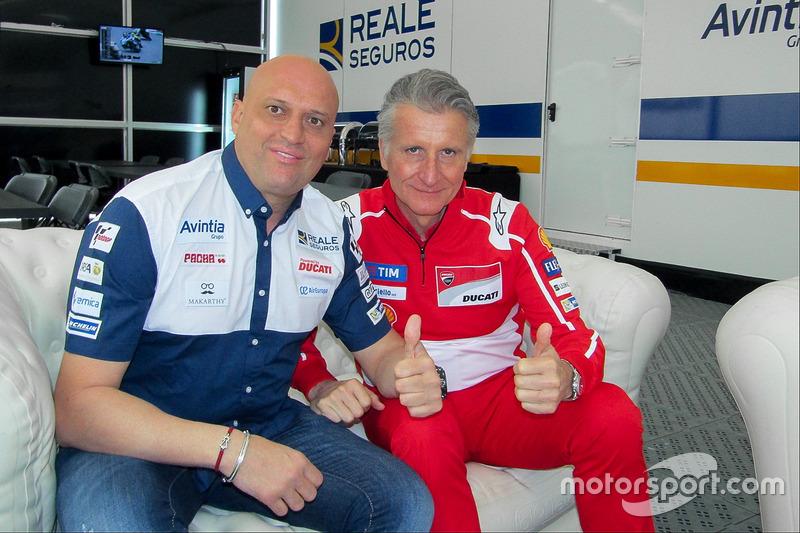 Paolo Ciabatti, Ducati Corse Sporting Director, Raúl Romero, CEO Esponsorama