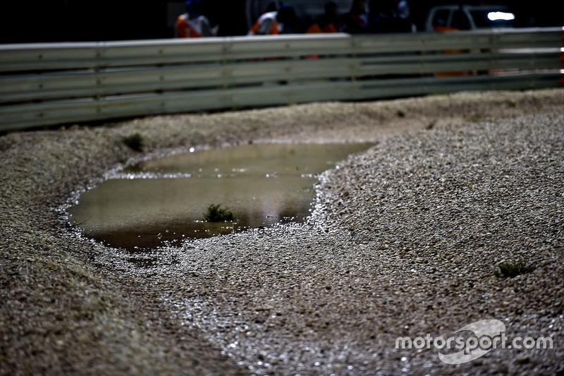 Genangan air di gravel