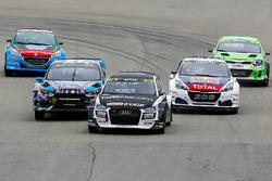 Reinis Nitiss, EKS Audi S1, Andreas Bakkerud, Hoonigan Racing Division Ford, Timmy Hansen, Team Peugeot Hansen