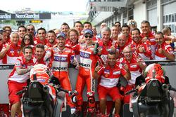 Een tweede en derde plaats voor Andrea Dovizioso, Ducati Team, Jorge Lorenzo, Ducati Team