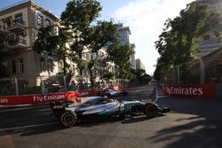 Lewis Hamilton, Mercedes-Benz F1 W08  runs wide