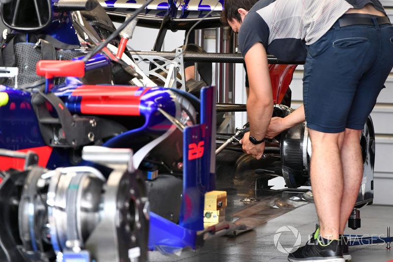 Détails de la Scuderia Toro Rosso STR12
