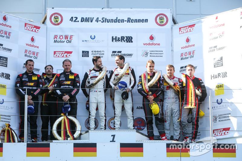 Podium: 1. #911 Manthey Racing, Porsche 911 GT3 R: Frédéric Makowiecki, Richard Lietz; 2. #8 Haribo Racing, Mercedes AMG GT3: Uwe Alzen, Lance David Arnold, Maximilian Götz; 3. #49 Audi Sport Team WRT, Audi R8 LMS: Marcel Fässler, Robin Frijns, Nico Müller