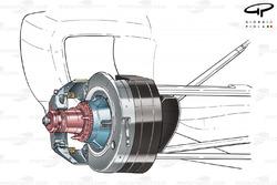 Ferrari F2003-GA front brake assembly