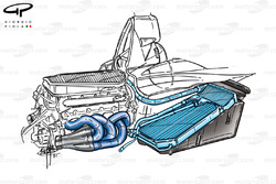 Minardi PS01 internal engine and radiator layout