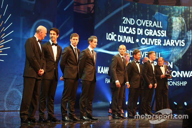 Dr. Wolfgang Ullrich, Lucas di Grassi, Loic Duval, Oliver Jarvis, Stéphane Sarrazin, Kamui Kobayashi, Mike Conway