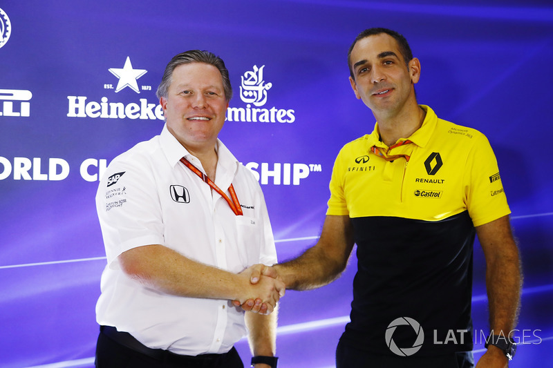 Zak Brown, McLaren-Chef, Cyril Abiteboul, Renault Sport F1, Geschäftsführer