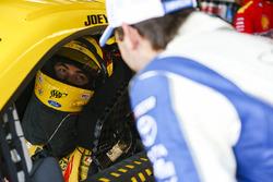 Joey Logano, Team Penske Ford and Daniel Suarez, Joe Gibbs Racing Toyota