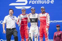 Podium: winner Sam Bird, DS Virgin Racing, second place Felix Rosenqvist, Mahindra Racing, third place Nick Heidfeld, Mahindra Racing