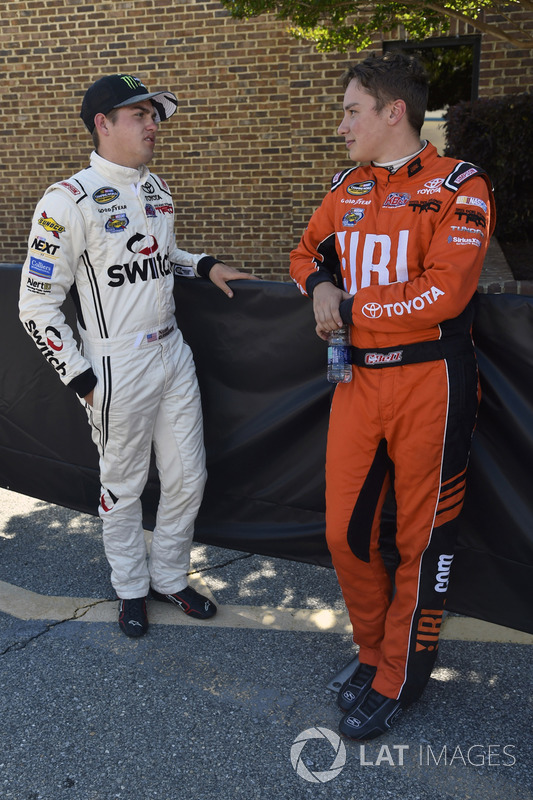 Noah Gragson, Kyle Busch Motorsports, Toyota; Christopher Bell, Kyle Busch Motorsports, Toyota
