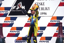 Podium: race winner Valentino Rossi, Aprilia