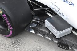 Williams FW40 detalle de piso