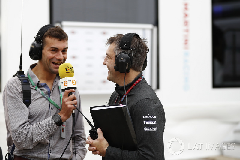 Interviews in the paddock
