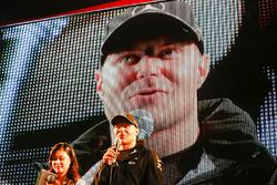 Valtteri Bottas, Mercedes AMG F1, on stage