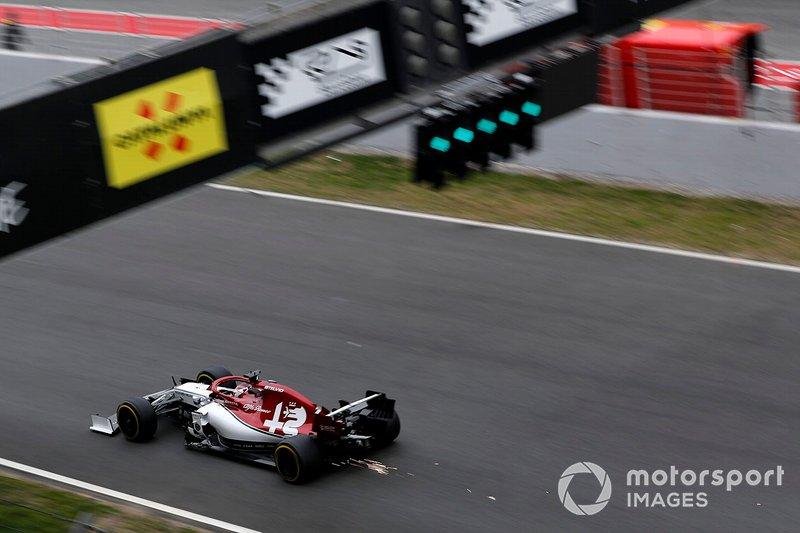 Kimi Raikkonen, Alfa Romeo Racing C38 sparks