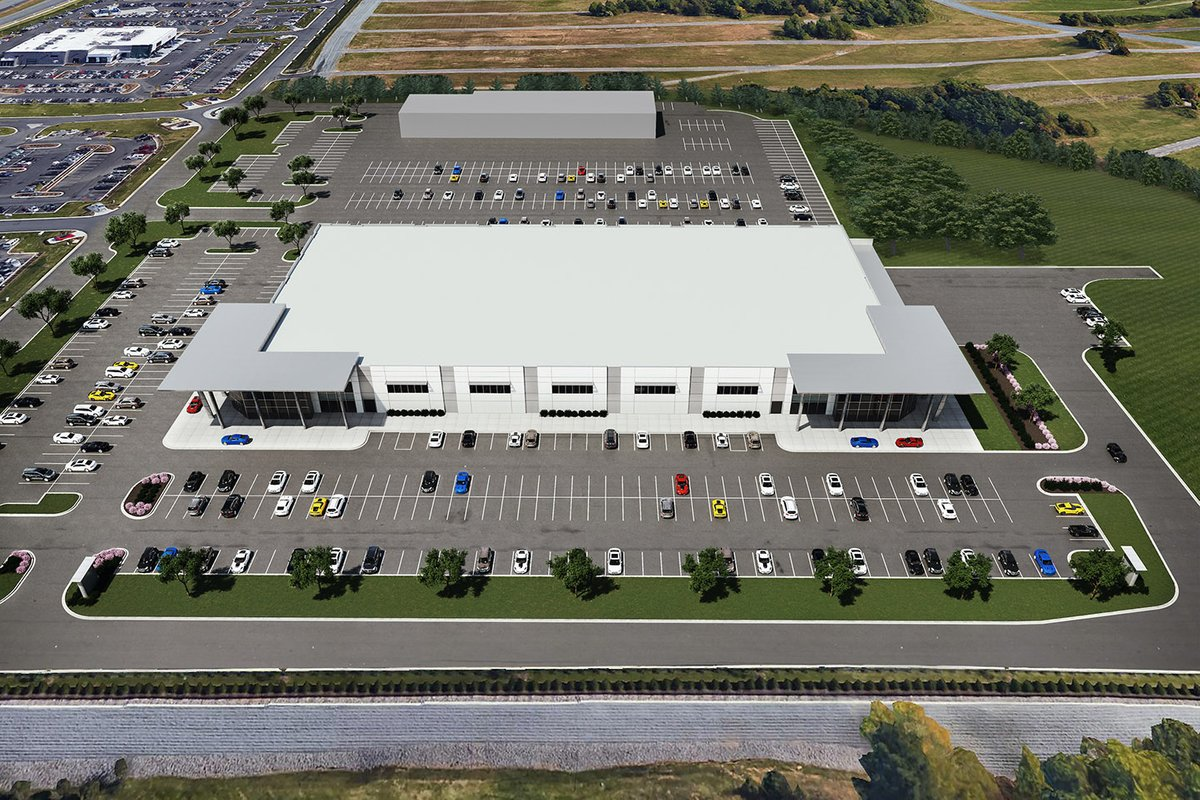 Rendering of the General Motors Technical Center at Charlotte