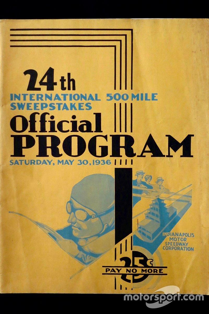 1936 Indy 500 program.