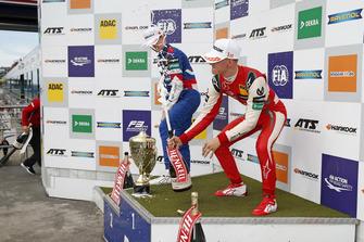 Podium: Race winner Mick Schumacher, PREMA Theodore Racing Dallara F317 - Mercedes-Benz, second place Robert Shwartzman, PREMA Theodore Racing Dallara F317 - Mercedes-Benz
