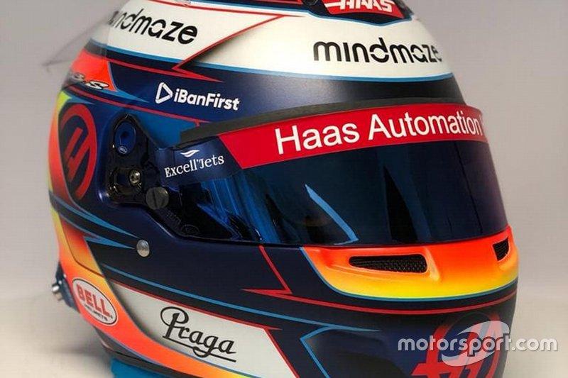 Romain Grosjean helm onthulling