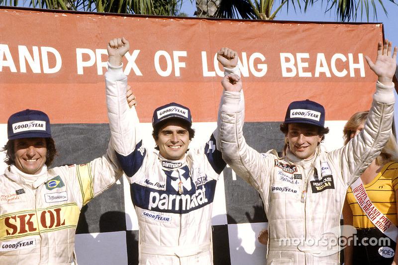 Estados Unidos siempre dio suerte a Piquet. Fue en el GP de Estados Unidos Oeste, disputado en Long Beach en 1980 consiguiendo su primera victoria.