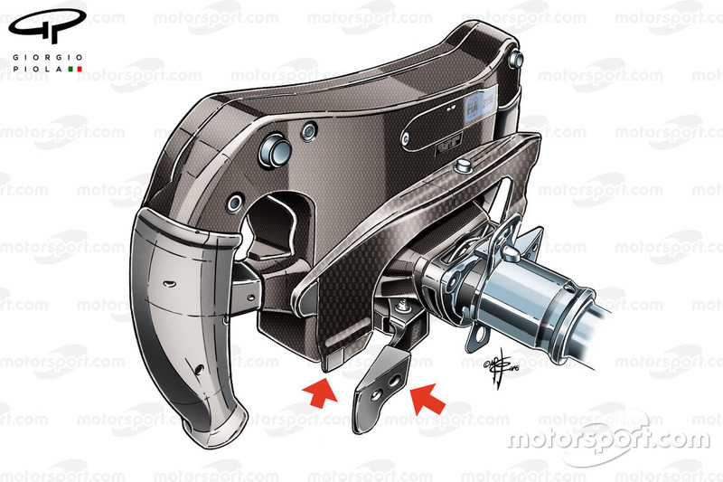 Mercedes W07 steering wheel, rear view