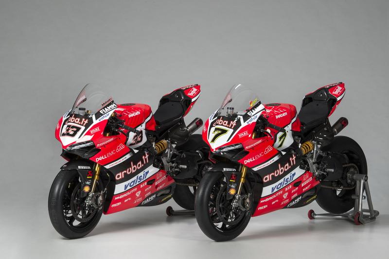 Las motos de Marco Melandri y Chaz Davies, Ducati Team
