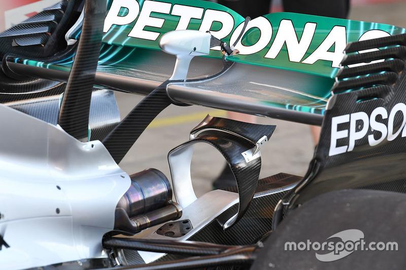 Mercedes F1 W08: Heckflügel und Monkey-Seat