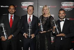 GTD Champions Andrea Reggiani, Giacomo Mattioli, Alessandro Balzan, Christina Nielsen,