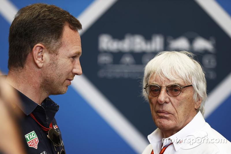Christian Horner, Red Bull Racing, Teamchef; Bernie Ecclestone