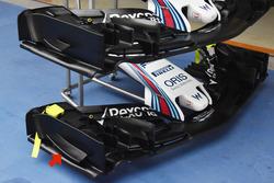 Williams FW 40, Vergleich Frontflügel