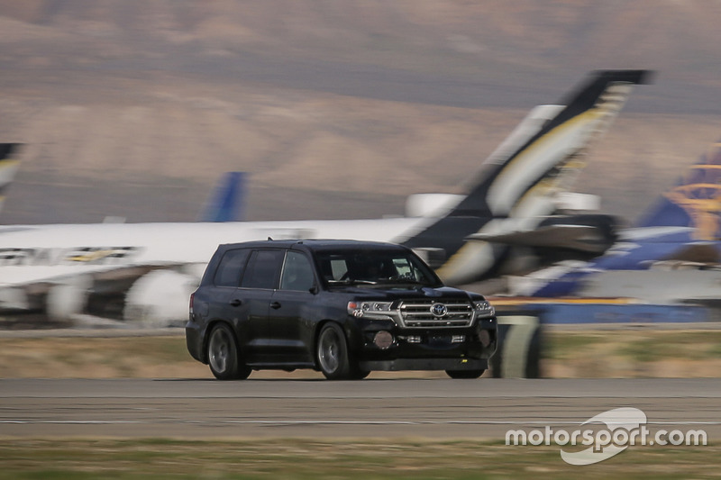 Toyota Land Speed Cruiser with Carl Edwards driving