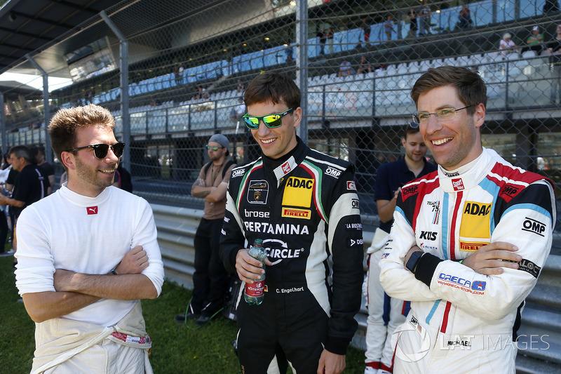 #42 BMW Team Schnitzer, BMW M6 GT3: Philipp Eng, #63 GRT Grasser Racing Team, Lamborghini Huracán GT3: Christian Engelhart, #17 KÜS TEAM75 Bernhard, Porsche 911 GT3 R: Michael Ammermüller