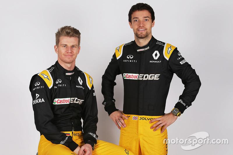 Nico Hulkenberg, Renault Sport F1 Team y su compañero de equipo Jolyon Palmer, Renault Sport F1 Team