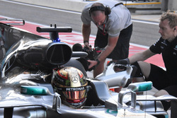 Lewis Hamilton, Mercedes AMG F1 W08: Airbox