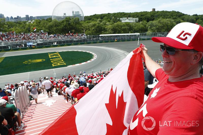 Un fan canadiense de Lance Stroll, Williams Racing