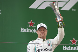 Valtteri Bottas, Mercedes AMG F1, 2nd position, with his trophy