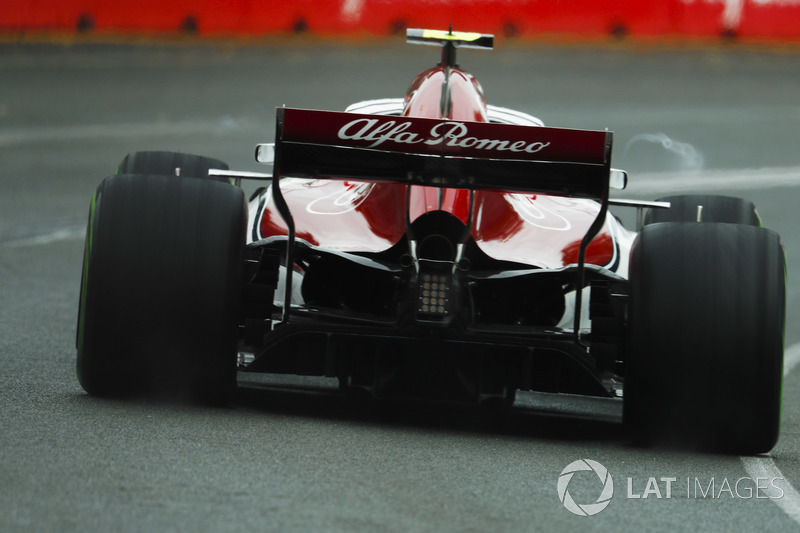 Un vortex sur la monoplace de Charles Leclerc, Sauber C37 Ferrari
