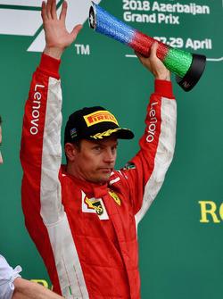 Podio: segundo, Kimi Raikkonen, Ferrari