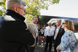 Ross Brawn, Managing Director of Motorsports, FOM, and Chase Carey, Chairman, Formula One, meet some guests